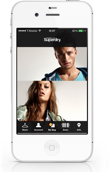 SuperDry iPhone App homepage