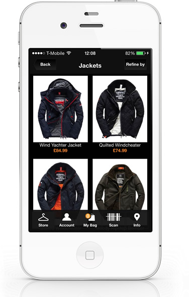 SuperDry iPhone App listings
