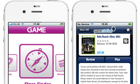 Game and Gamestation iPhone Apps