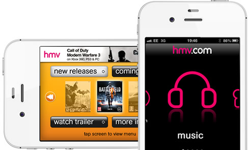 HMV iPhone App