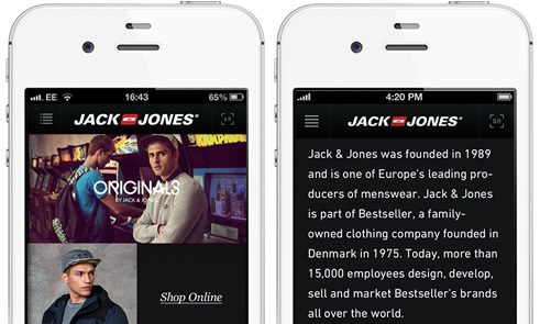 JackJones iPhone App development